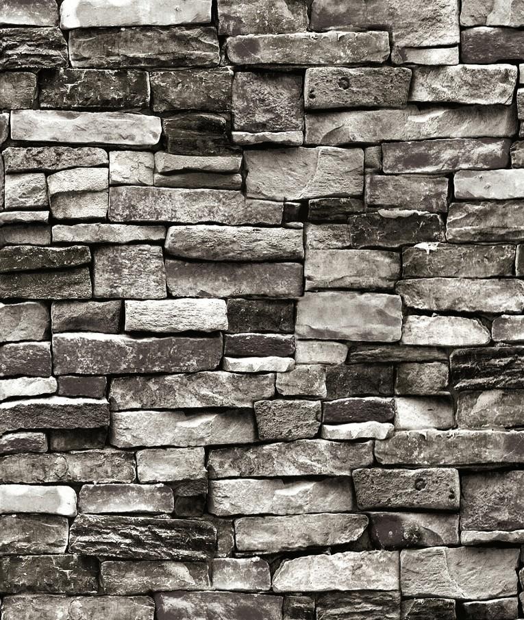 Modern Vintage Pvc 3d Rock Brick Texture Wallpaper Roll ...
