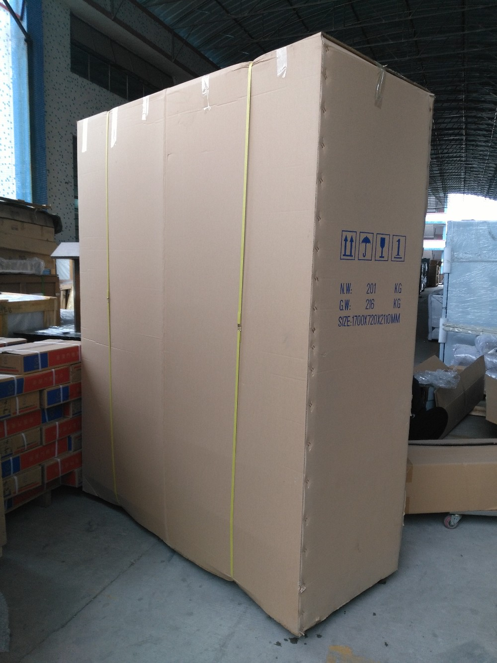 Cooler Stand Upright Vertical Open Glass Door Display
