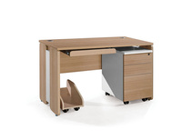 2019 wooden Classic design office with keyboard/office desk/office computer desk