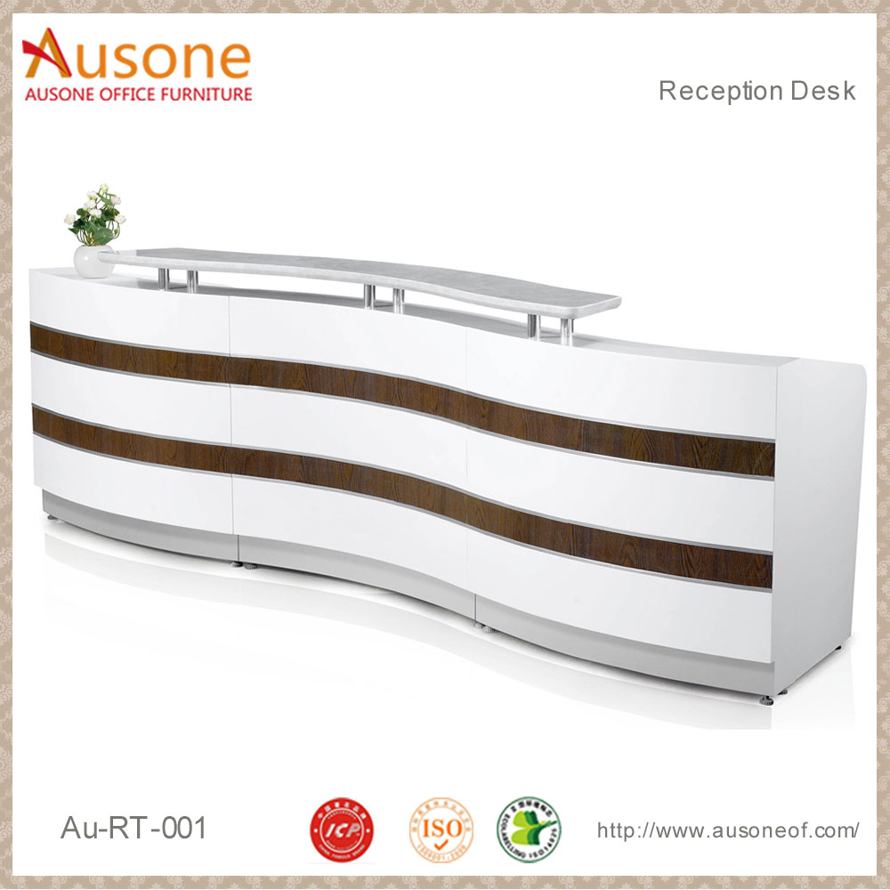 Online Hot sale white modern hotel reception desk vintage reception desk