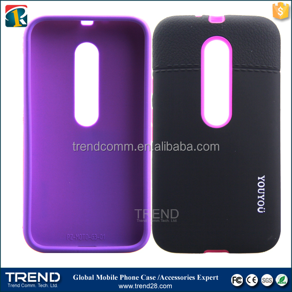 Fashion design new style youyou pc+tpu case for moto G3