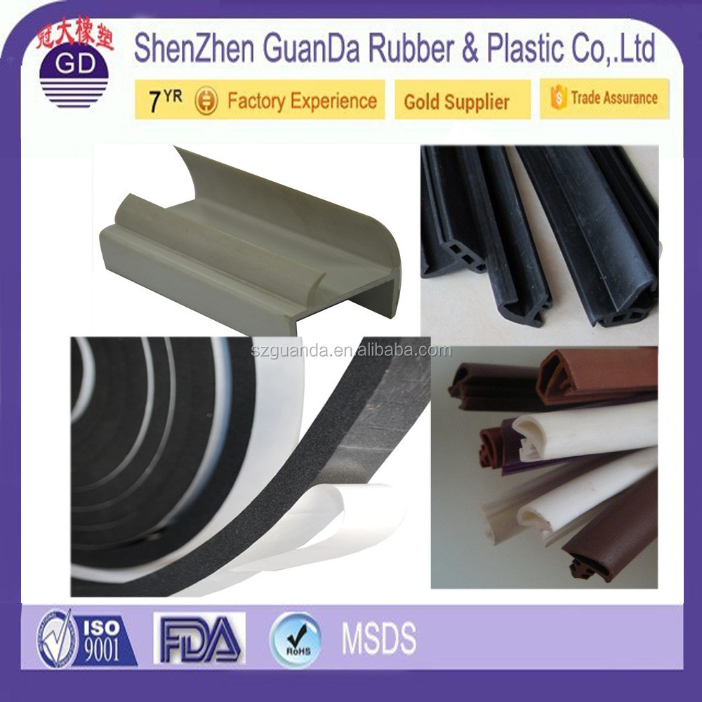 High quality garage door plastic rubber seal strips epdm window seal hard plastic tubes / thin plastic tube