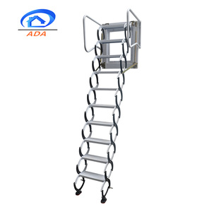 Carbon Steel Movable Collapsible Ladder Supplier Attic Access Door with Ladder