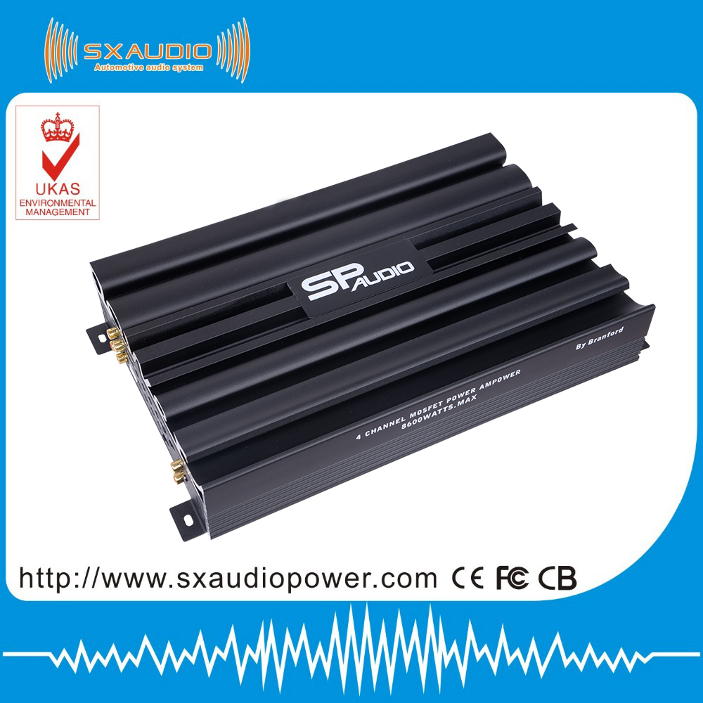 power shape heatsink 120W by 4CH car amplifier and high power Car Audio Amplifier
