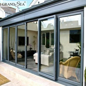 Waterproof Veranda Double Glazing Aluminum Bi Folding Doors Design - Buy Bi Folding Doors ...
