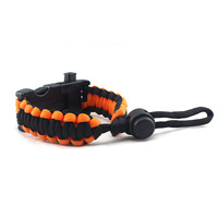 OEM!! Factory Wholesaler Cheap adjustable SOS Emergency LED Bracelets Paracord survival paracord bracelet for small order