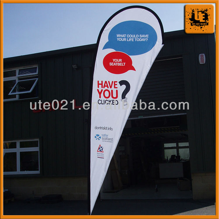 Plastic feather flag banners with low price