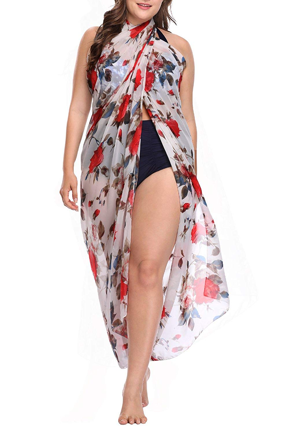9d3f60d7bb1b9 Get Quotations · Sociala Women s Swimsuit Beach Cover up Plus Size Bathing  Suit Wrap Cover Ups