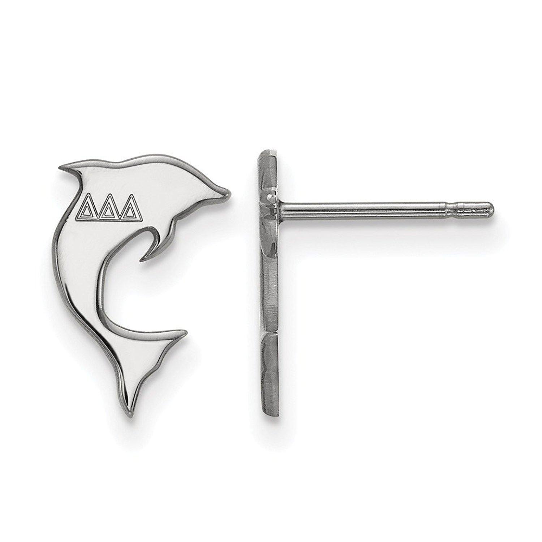 Roy Rose Jewelry Sterling Silver LogoArt Delta Delta Delta X-small Post Earrings
