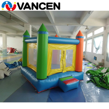 Cheap 2017 plato 0.55mm PVC tarpaulin customized size multi color cube shape outdoor airflow bouncer for hire business use