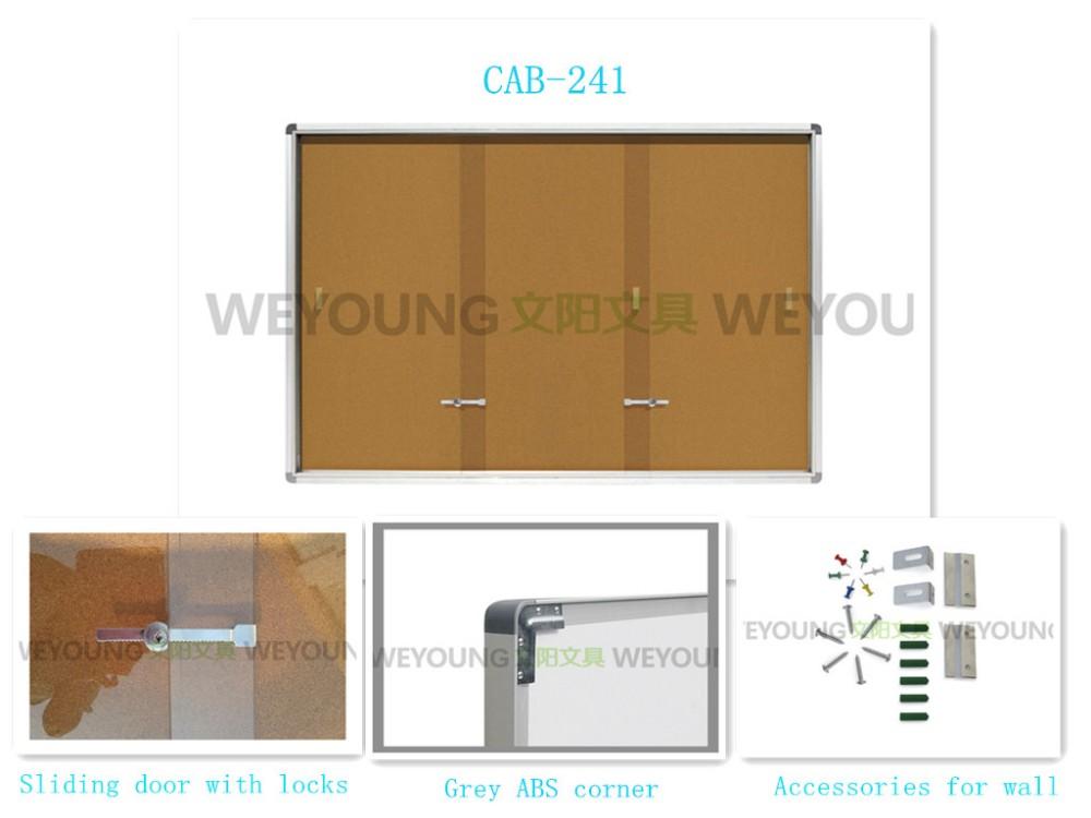 Office Sliding Doors Bulletin Board Enclosed Cork Board With Aluminum Frame Buy Enclosed Cork Boardbulletin Boardcork Board Product On Alibaba