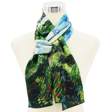 Digital Silk Scarf Printing Cooling Turkish Silk Scarf