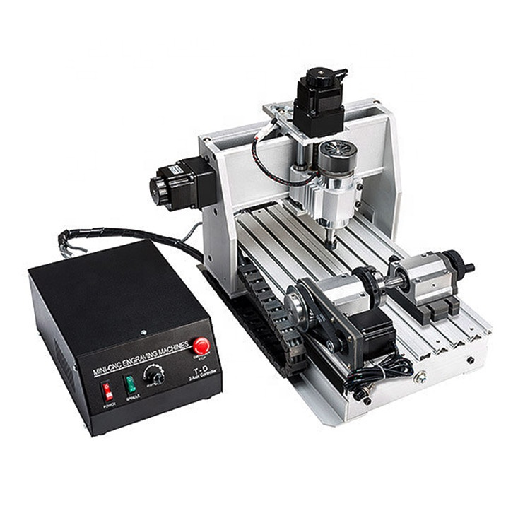 300W Small Size Milling Router <strong>CNC</strong> 3020 4 Axis Wood Carving Machine