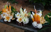 Aroma flower candle from Thailand.