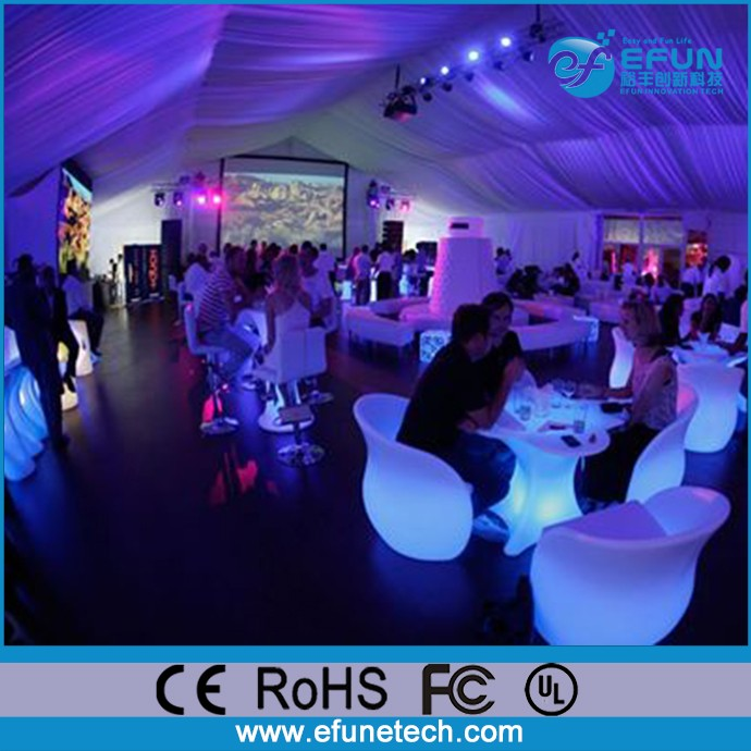 remote control rgb color changing led bar furniture set outdoor nightclub glowing pe plastic illuminated led event tables