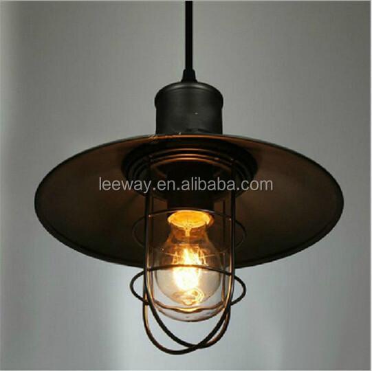 Vintage industri le kooi hanger licht smeedijzeren kroonluchters kunst vogelkooi retro lamp - Licht industriele vintage ...