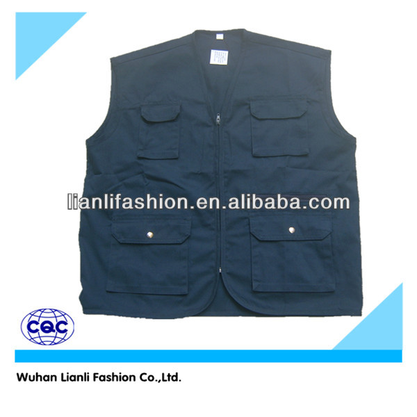 working vest for men with multi pockets windproof coverall