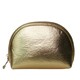 pu gold professional round glitter cosmetic bag,waterproof leather wholesale travelling toiletry bag with zipper