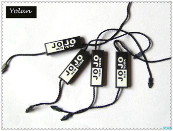 name tag string for clothing or jewelry