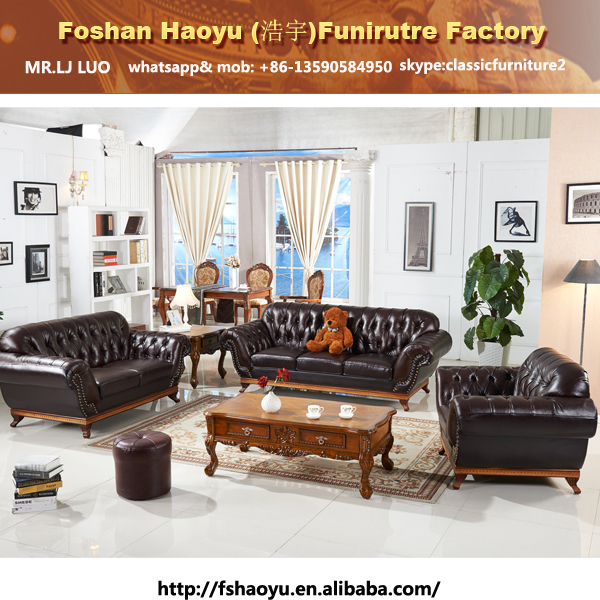 Supply Wooden Frame Violino Leather Sofa, Chesterfield Sofa With Real  Leather