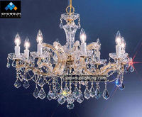 Chinese pensile crystal lamp with candles