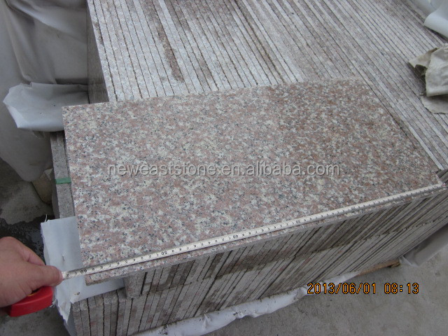 Chinese g687 granite peach blossom red polished floor tiles cheap price