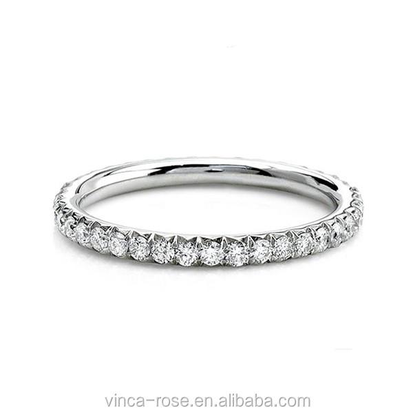 Simple Design 14k Gold Jewelry Whole 1 Gram Diamond Ring
