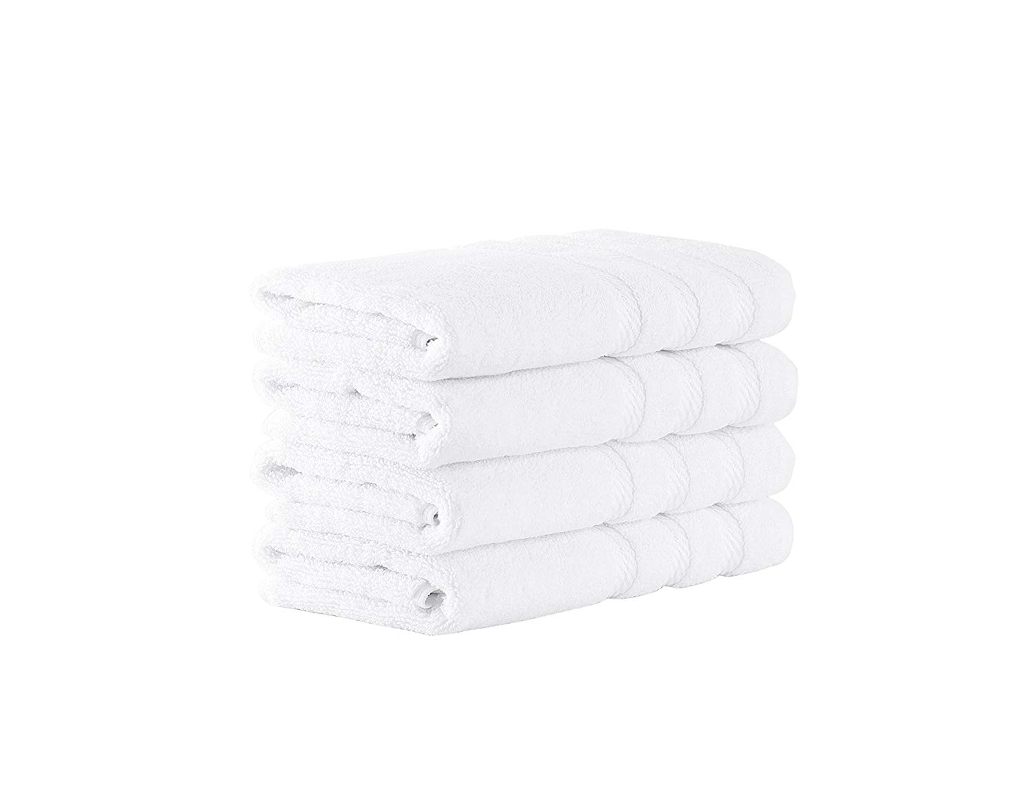 """Premium Terry Cotton Hand Towel Set - Fast Drying Bath and Spa Towel Set Made with 100% Turkish Cotton - 4 Piece Set, 16"""" x 28"""""""