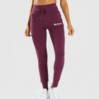 2019 OEM Wholesale Custom Rayon Polyester Burgundy Colorful Women Workout Sports Jogger Pants
