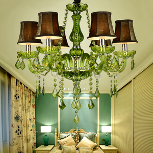 Modern Luxury glass arm green indian style chandeliers,austrian crystal chandeliers