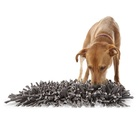 Yangyang pet beds accessories Durable and Machine Washable Fun Grey Dog Feeding Play Mat Wooly Dog Snuffle Mat