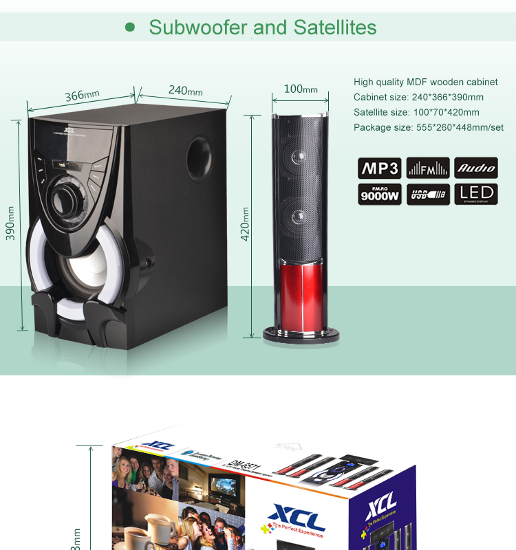 2016 Hot selling home theater speaker system 5.1,7.1