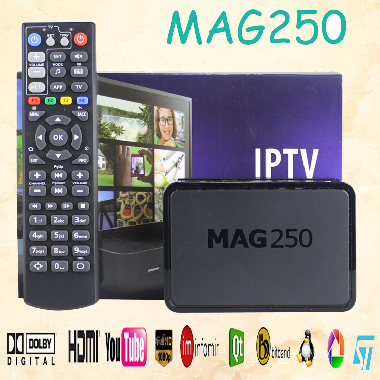 High quality sitellite receiver support wifi mag 250 arabic iptv m3u