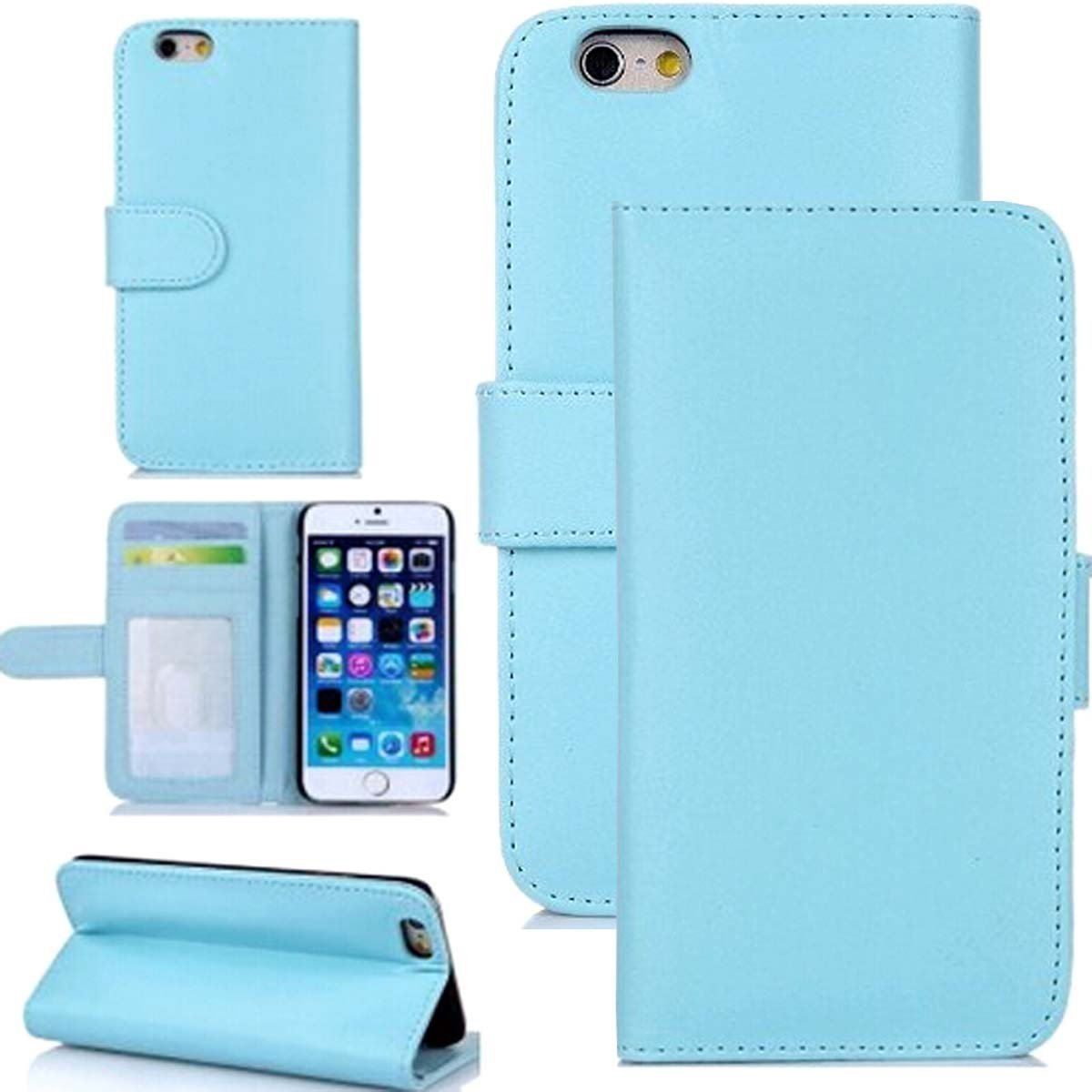 """iPhone 6S Cover,iPhone 6S Leather Case,iPhone 6S Case Wallet,Candywe [Sky Blue][Wallet] Flip Case Cover For iPhone 6S 4.7"""""""