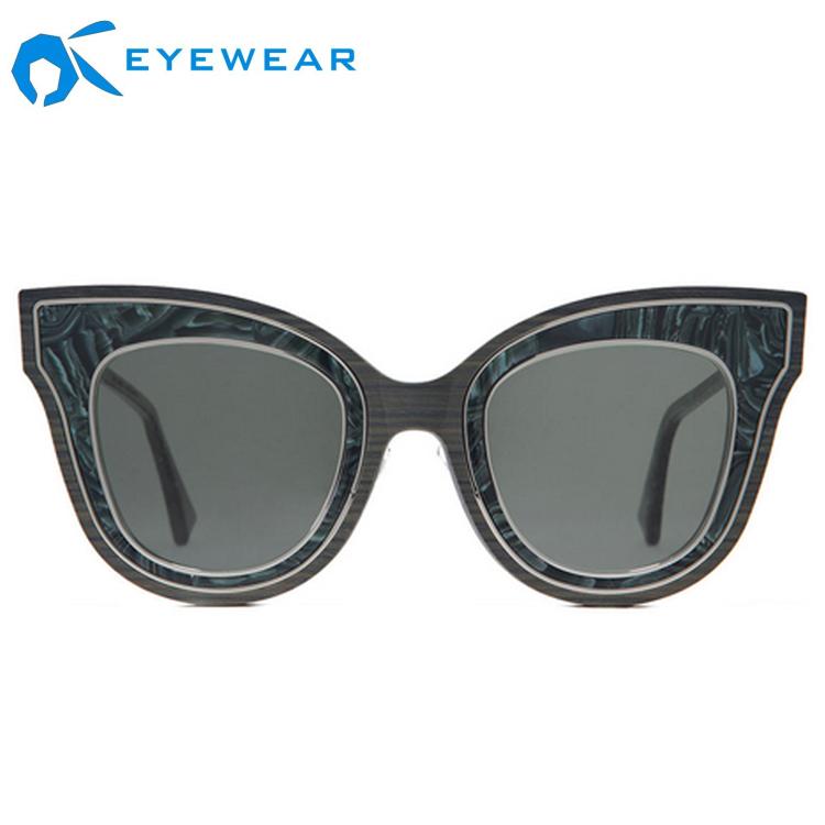Brown CR39 Lens CE 연예인 Eyewear UV400 Cat 눈 retro 선글라스 대 한 Women