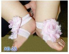 2020 Hooyi шифоновые Цветочные Носки для маленьких девочек, детские аксессуары для обуви для новорожденных, эластичные носки для волос, тапочки ...(China)