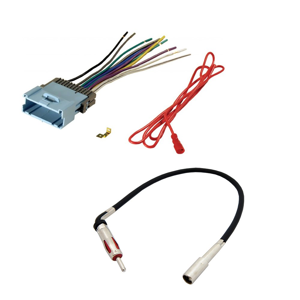 AFTERMARKET CAR STEREO RADIO RECEIVER WIRING HARNESS + RADIO ANTENNA ADAPTER  FOR SELECT CHEVROLET AND PONTIAC