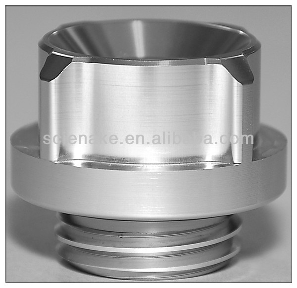 Natural finishing aluminum cnc machined turned Oil Filler Cap