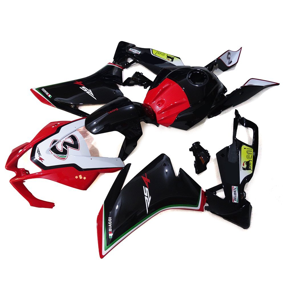 Sportfairings Full Fairings Injection ABS Body Kits For Aprilia RS4 125 2012 Motorcycle Body Kits Black Red White Cowlings