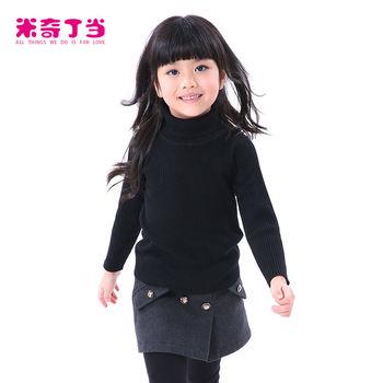 2014 зимние детские топы для девочек водолазка с длинным рукавом
