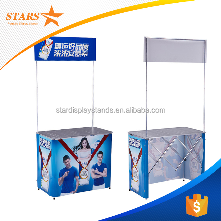 2016 Big Discount Portable Aluminum Folding Table / Promotion Counter Booth