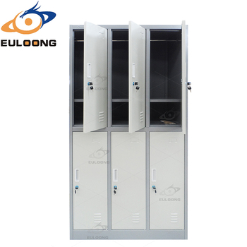 Cheap Shoes Storage Cabinet Steel Closet Cabinet 6 Door Lockers
