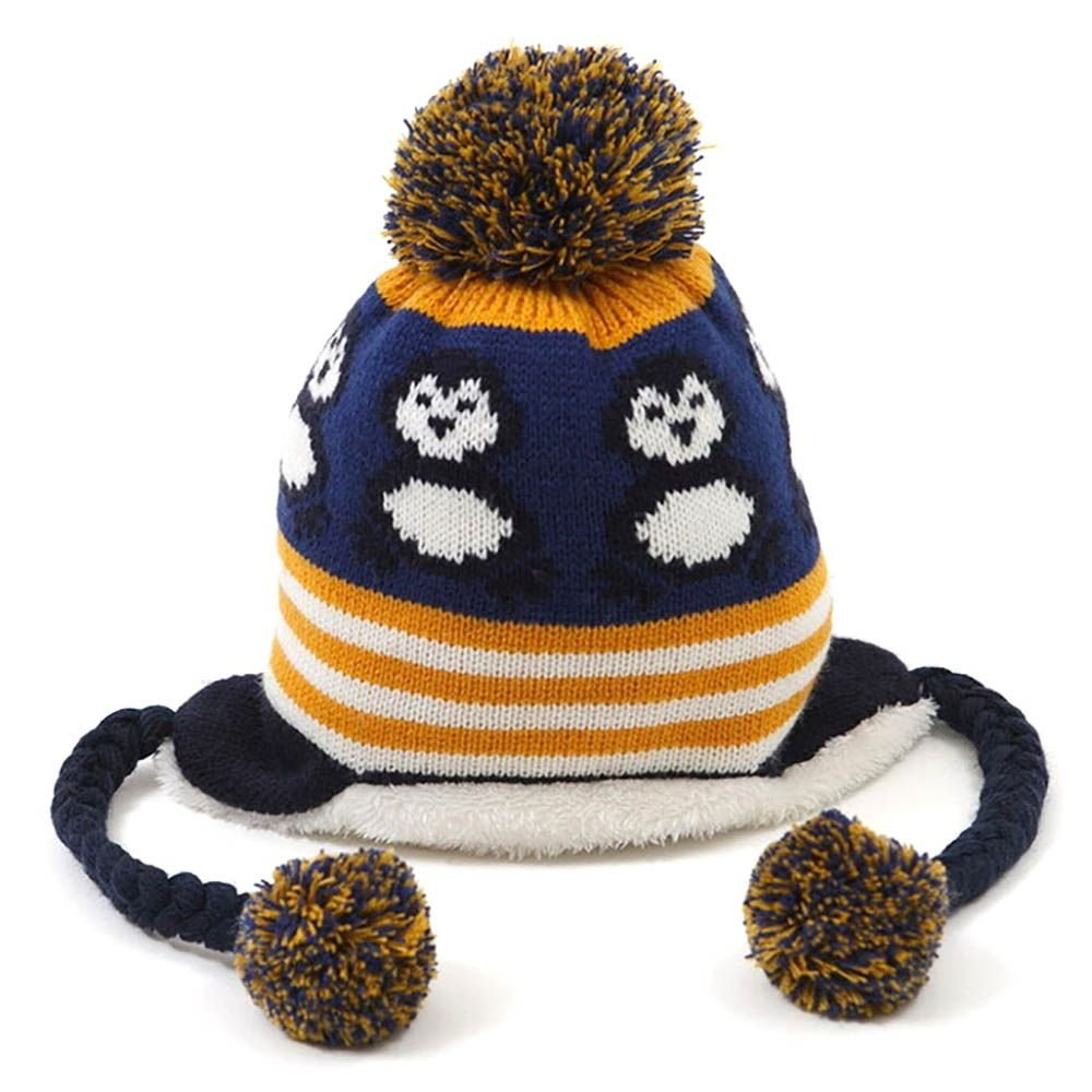 Get Quotations · WEKA Cute Penguin With Velvet Cap Warm Winter Crochet  Earflap Hat For Baby db778ebaa3e6