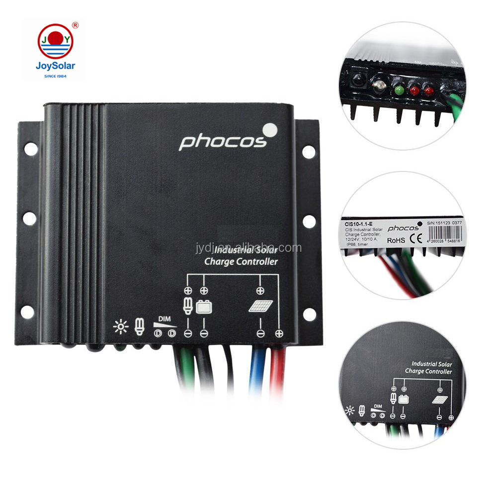MPPT dan PWM Phocos Lampu Jalan Solar Charge Controller 12 V/24 Vcis 10A 20A