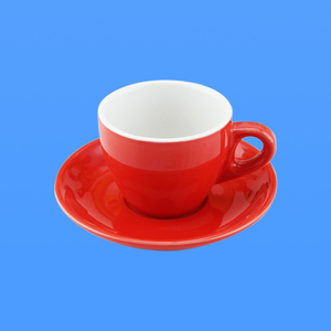 oem red ceramic cups saucers chinese factory wholesale espresso porcelain glazed colour oem customized coffee cup and saucer