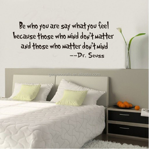 Dr.Seuss BE WHO YOU wall sticker sitting room bedroom Home Decal Mural Art Decor