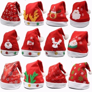 Christmas Ornaments Decoration Christmas Hats Santa Hats Children Women Men Boys Girls Cap For Christmas Party Props