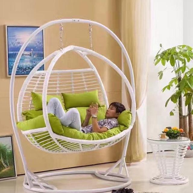 Hangstoel Egg Chair Wit.Jhoola In Living Room Hangstoel Hanging Chair With Stand 2 Seater