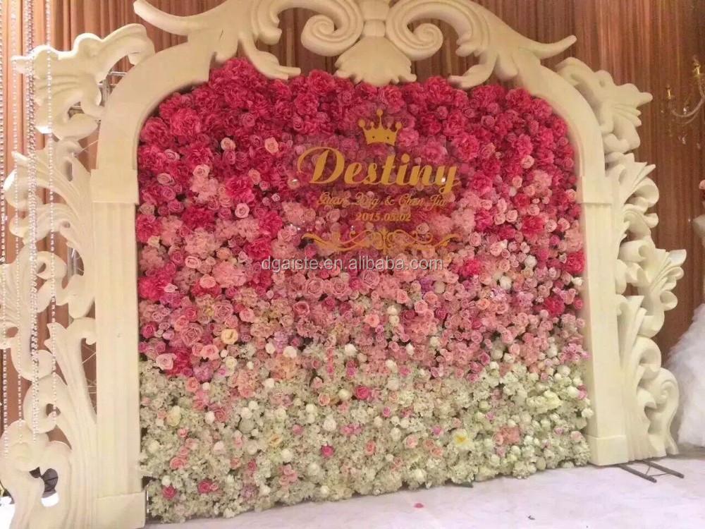 Romantische Entwickelt Blume Wand Hochzeit Dekoration Seide Rose