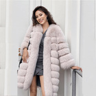 China fashion women winter clothes Hot Sale Top Quality sliver fox fur Jackets coat